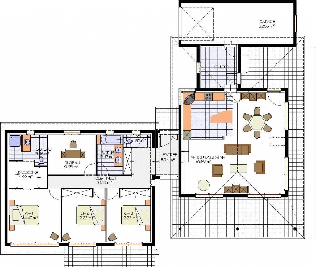 Sor de c ret maison traditionnelle for Plan entree maison