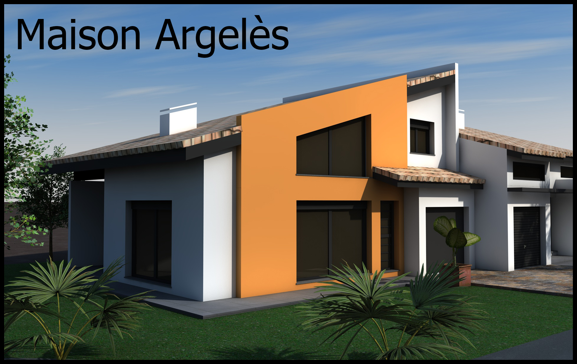 Argeles maison architecture moderne for Architecte plan maison